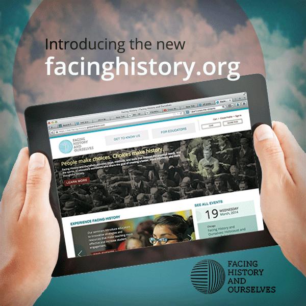 facing history new website