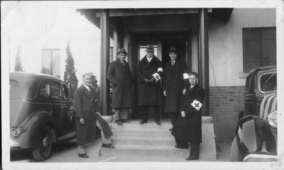Members of the Nanjing Safety Zone Committee. Photo courtesy of Ernest H. Forester Collection, Yale Divinity School Library