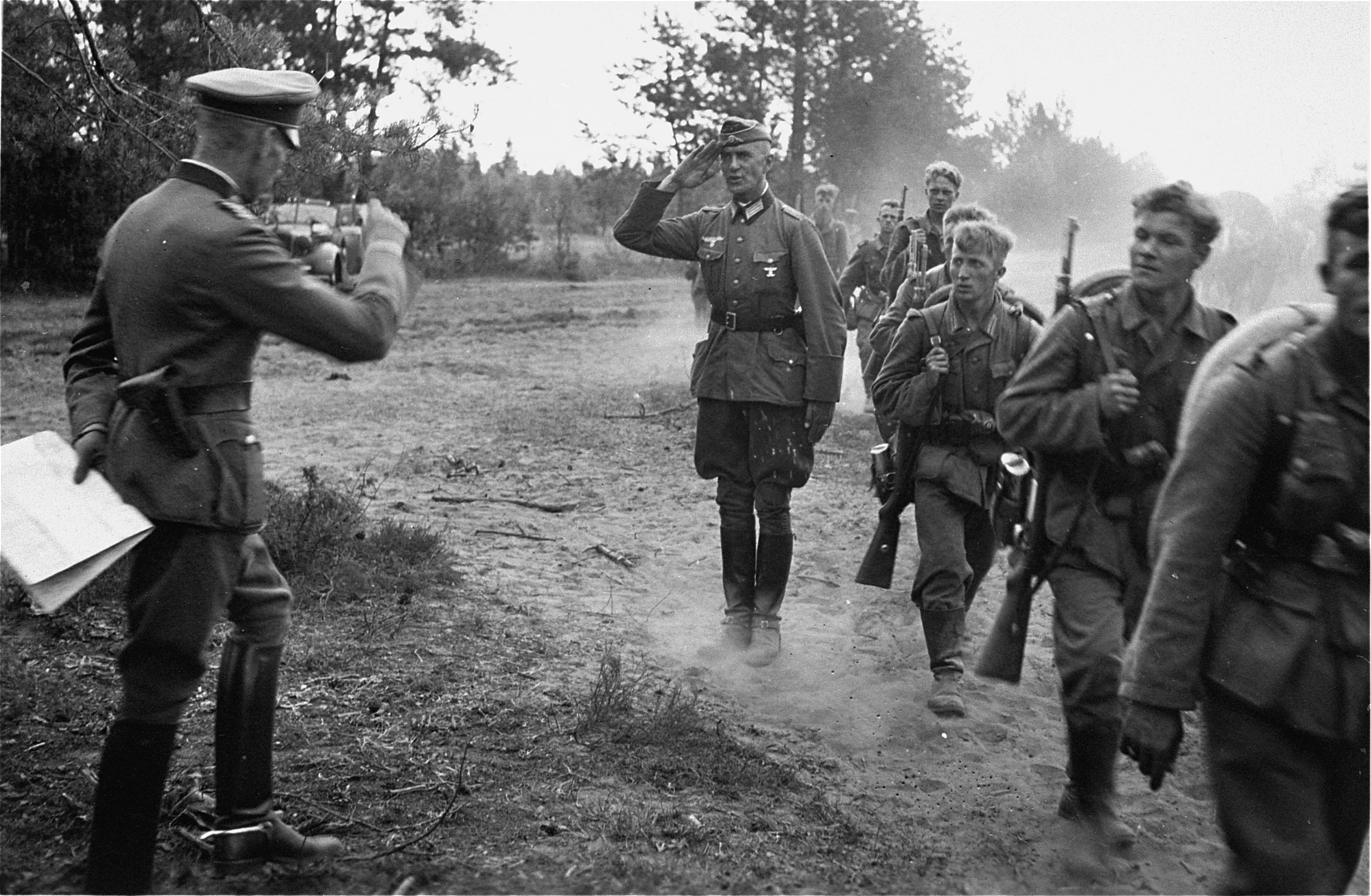 German infantry during the invasion of the Soviet Union in 1941. Credit: United States Holocaust Memorial Museum