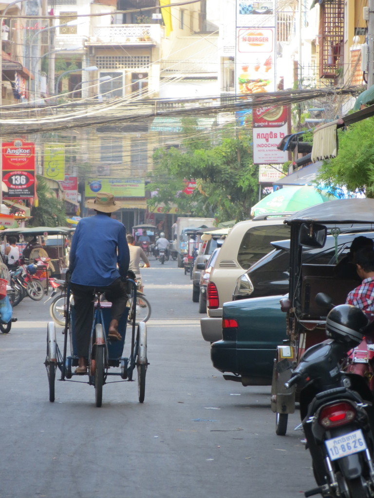 Walking through the streets of downtown Phnom Penh. (Jessica Lander)