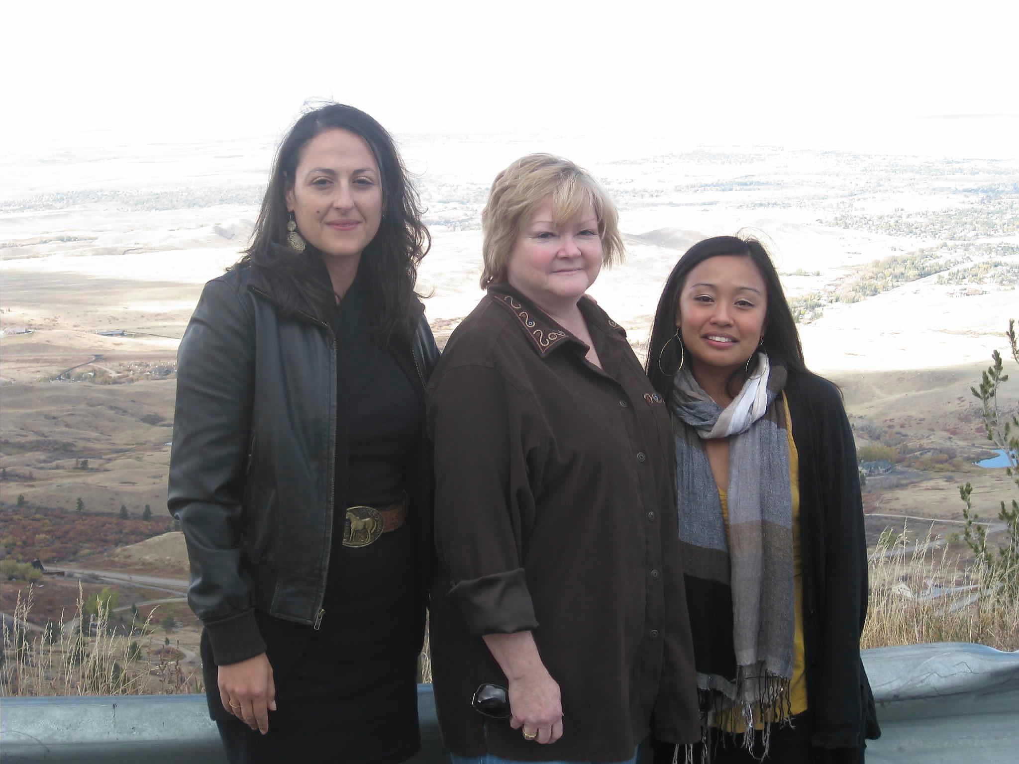 """Matt Shepard is a Friend of Mine"" co-producer Zeina Barkawi (left), Matthew Shepard's mother Judy, and Michele filming in Matt's hometown of Casper, Wyoming."