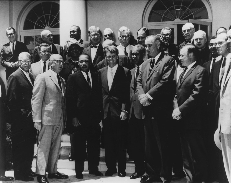 White House meeting with civil rights leaders on June 22, 1963. Photo courtesy of the U.S. National Archives and Records Administration