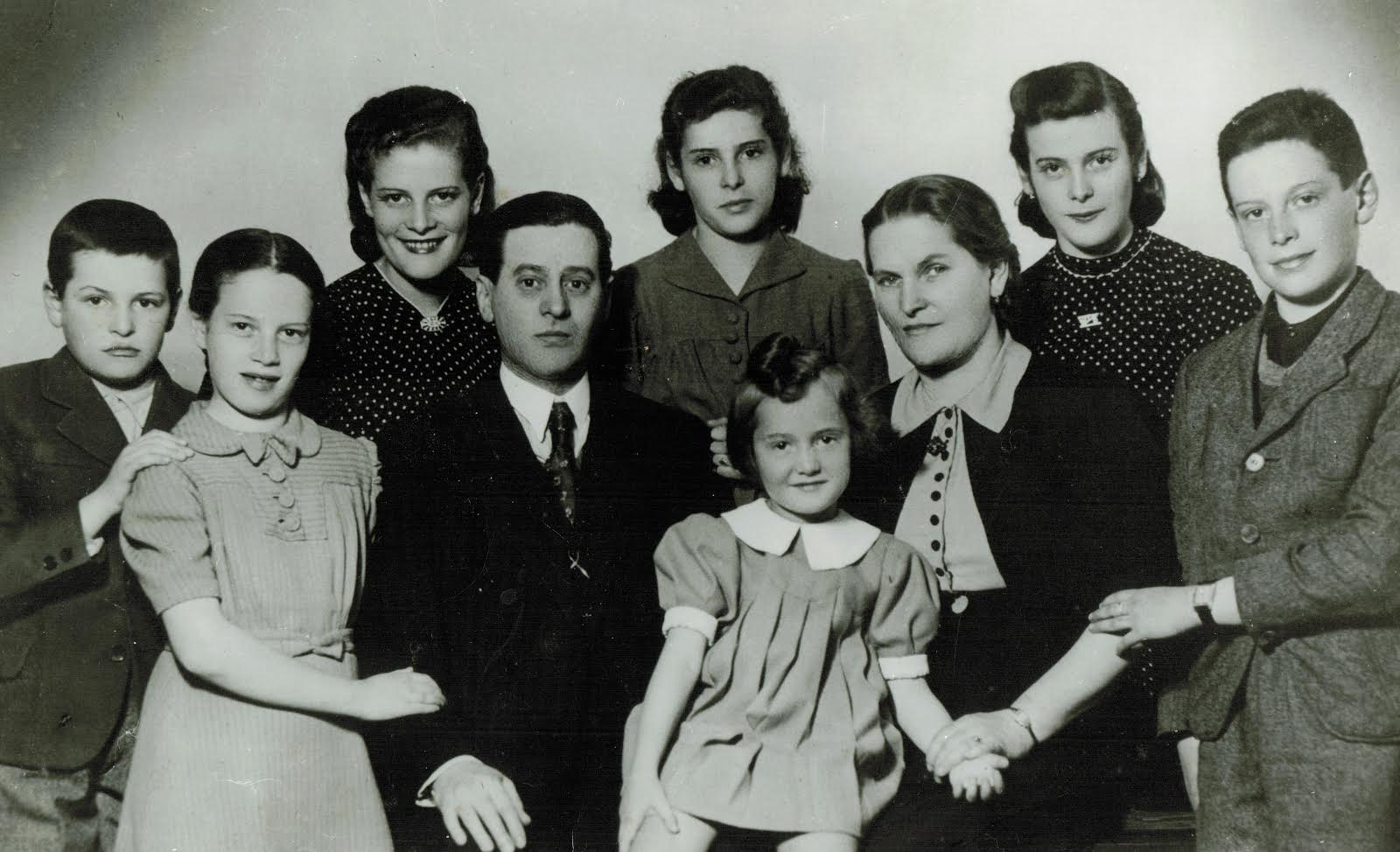 Caren's father, far left, with his parents and siblings in Romania in 1939.