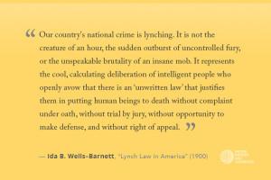 Facing History Ida B. Wells Quote