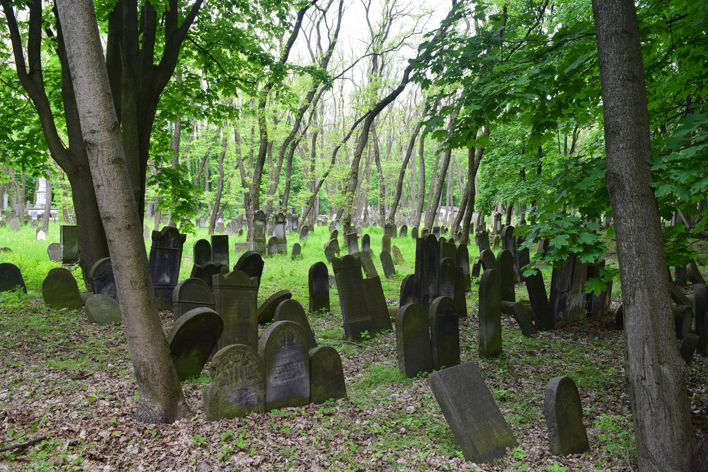 The Okopowa Street Jewish Cemetery is one of the largest Jewish cemeteries in Europe. It was established in 1806, consists of 82 acres of land, and contains over 200,000 marked graves, as well as mass graves of victims of the Warsaw Ghetto. As the cemetery was established to replace many smaller cemeteries closer to the city center, it was designed to serve all Jewish communities of Warsaw, regardless of their affiliation. When the Warsaw Ghetto was sealed in November 1940, this cemetery was enclosed inside. At that time, mourners required special passes to get past the guards posted at the entrance. Although the cemetery was closed down during WWII, after the war it was reopened and a small portion of it remains active. Currently, the cemetery has 20-30 burials each year.