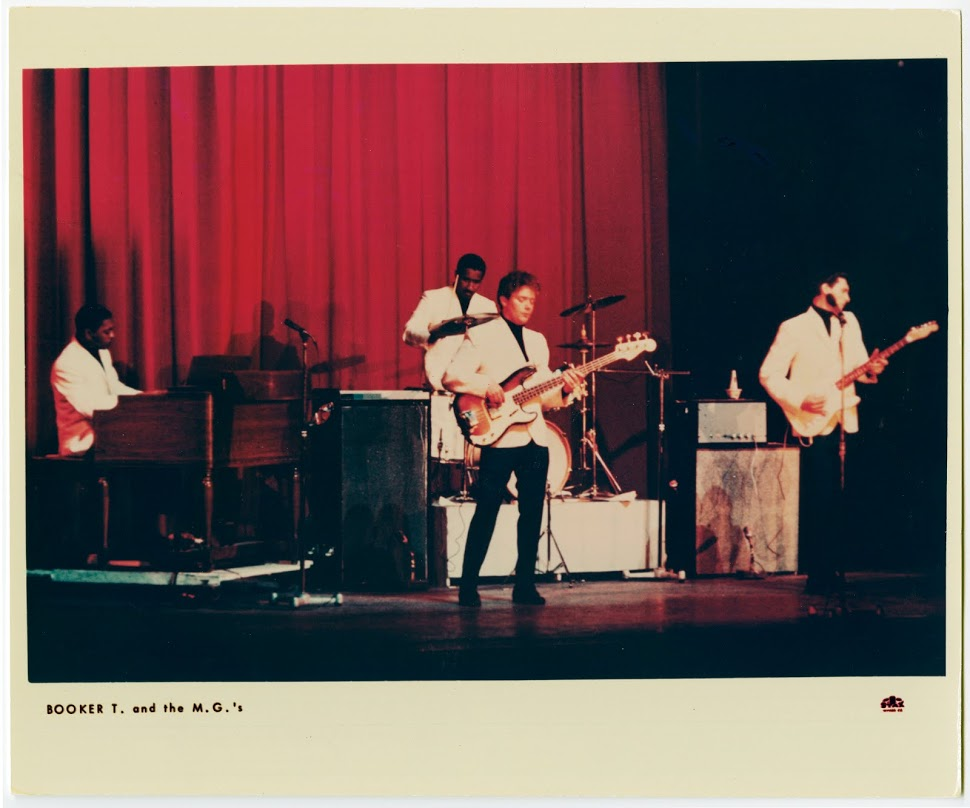 Booker T and the MGs performing on stage. Photo courtesy of Stax Museum of American Soul Music.