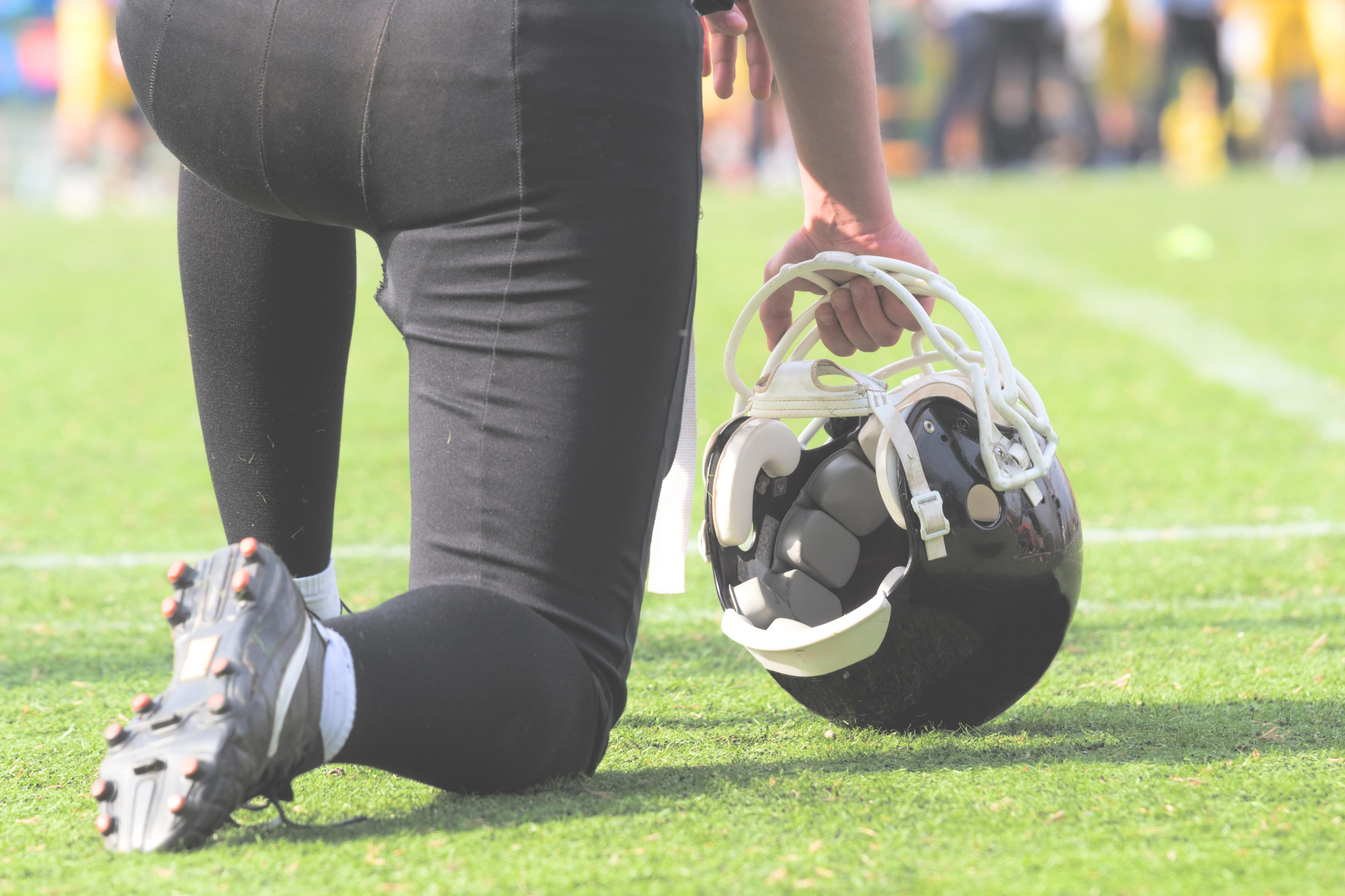 Chad Williams Football Kneeling