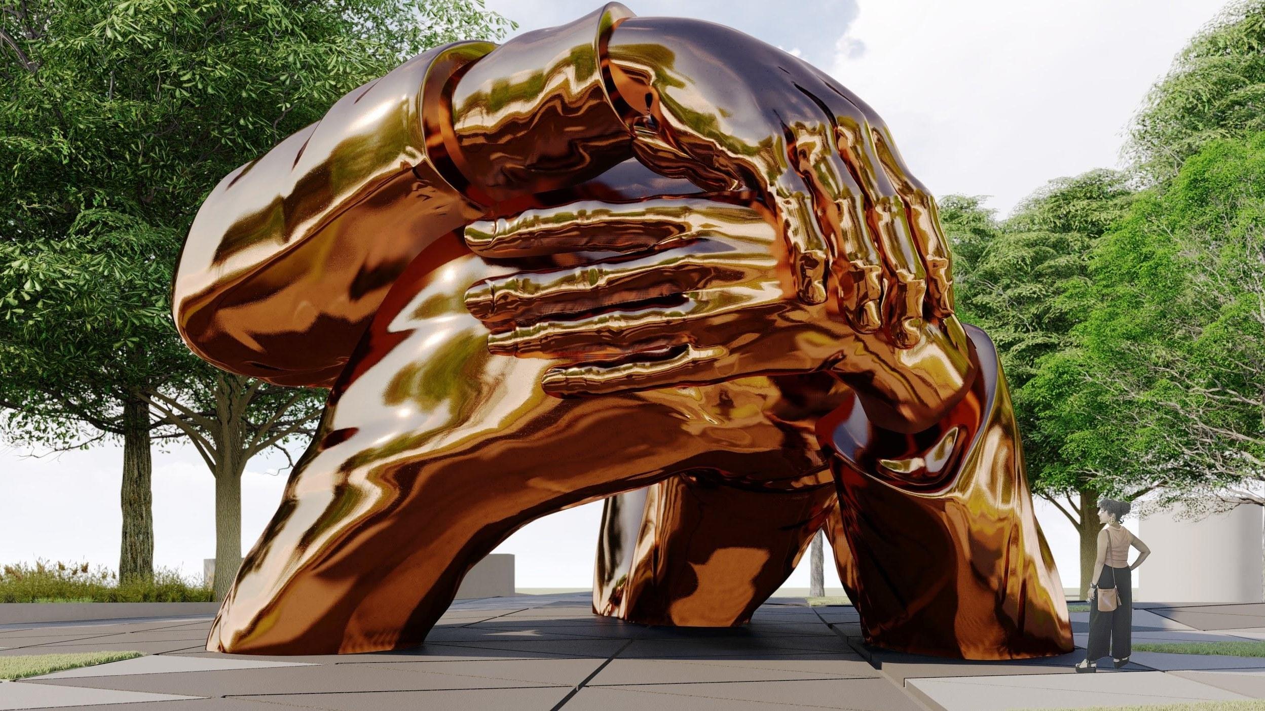 Embrace Sculpture_Large-1