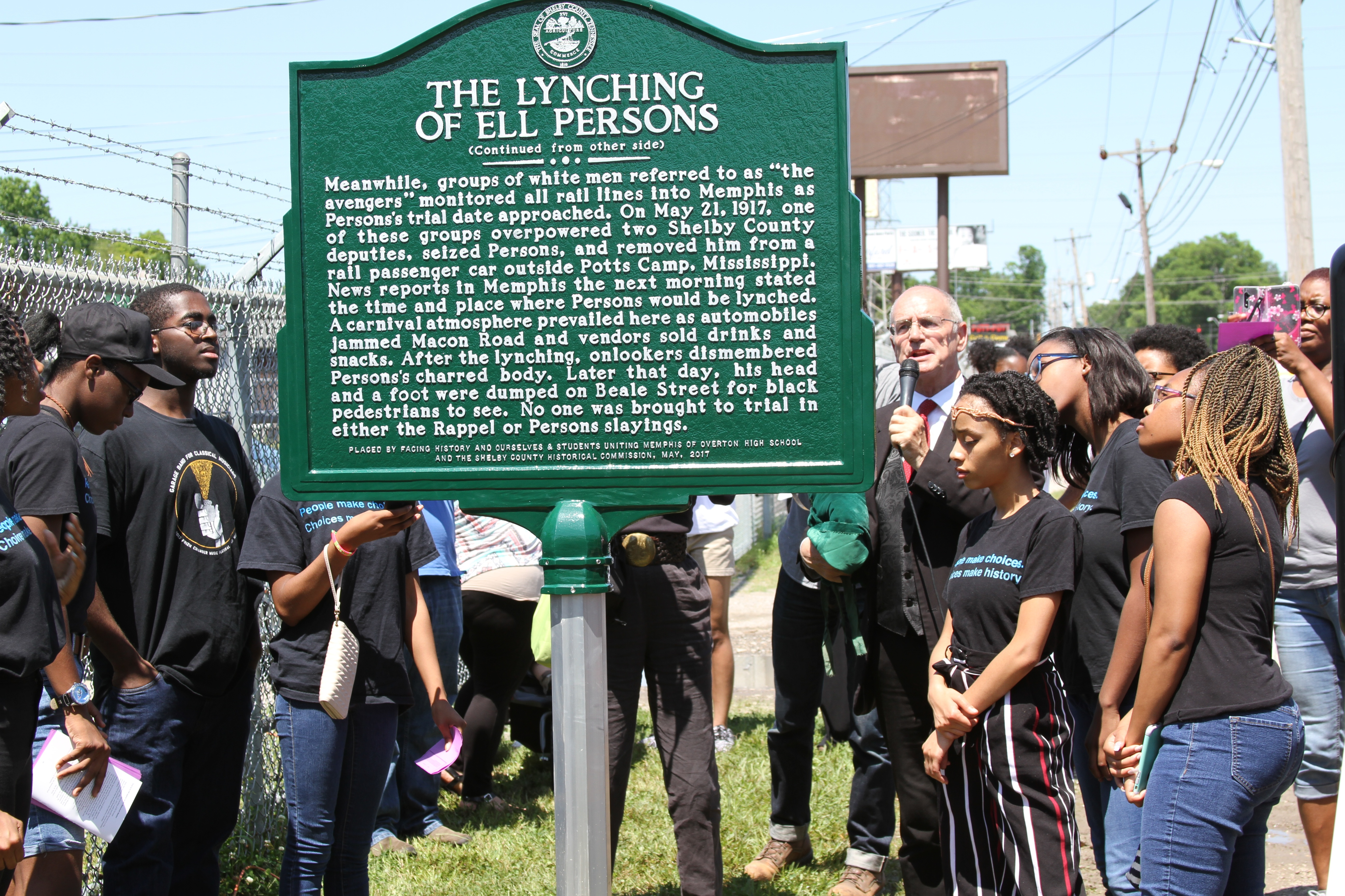 lynching memphis plaque students uniting memphis