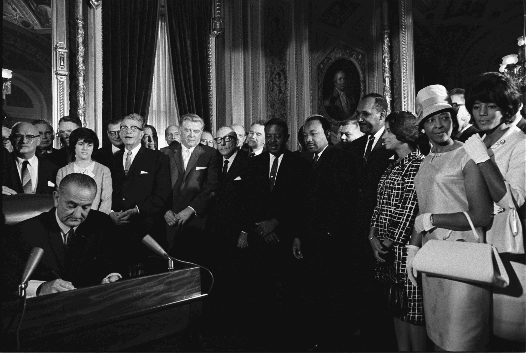 Lyndon Johnson Signs the Voting Rights Act of 1965