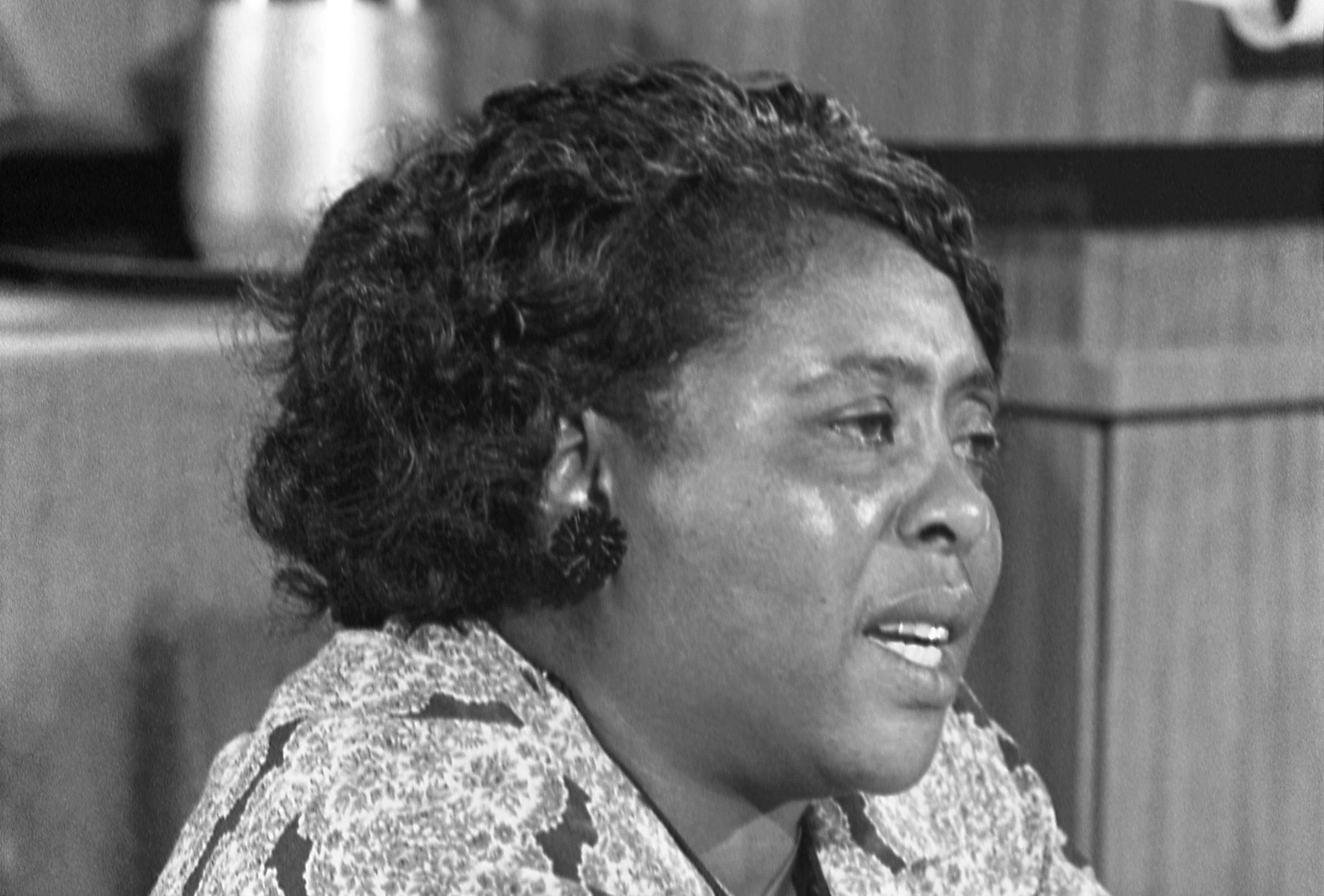 Fannie Lou Hamer at the Democratic National Convention, Atlantic City, New Jersey, August 1964.