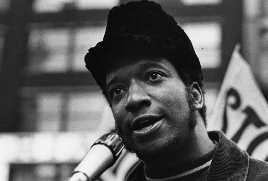 Black Panther Party leader Fred Hampton speaks outside the Dirksen Federal Building, Chicago, Illinois, 1969. (Photo by Paul Sequeira/Getty Images)