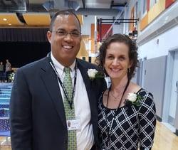 Greg Baldwin and Meredith Gavrin of New Haven Academy.