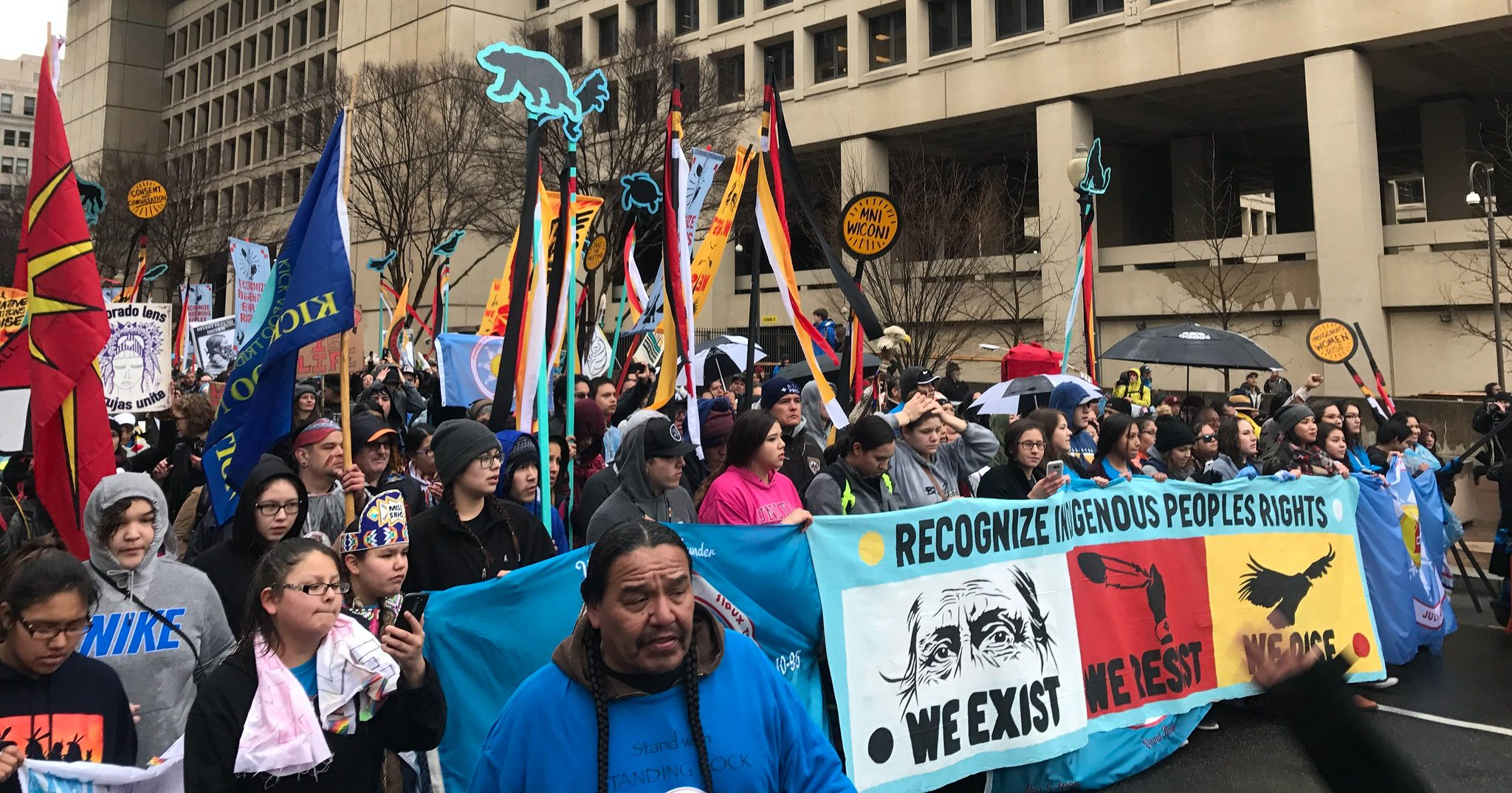 Native Nations Rise March in Washington, D.C. in 2017