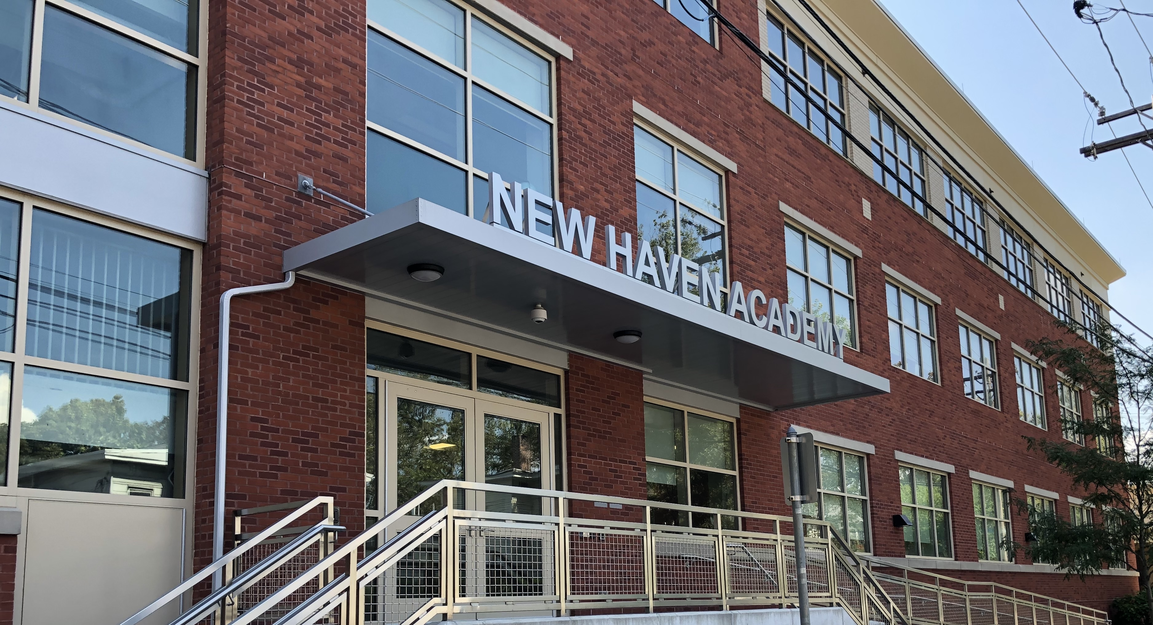 New Haven Academy in New Haven, CT; Greg Baldwin and Meredith Gavrin of New Haven Academy.