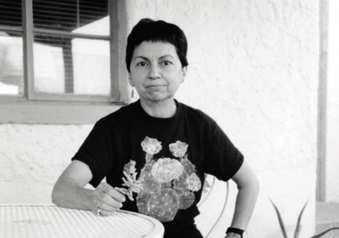 A portion of the cover of Teaching Gloria E. Anzaldúa (University of Arizona Press)