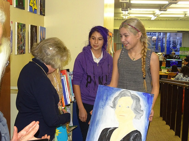 Students shared a portrait that they created for Ava to express gratitude for her visit.