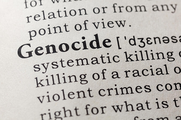 """A dictionary definition of """"genocide"""""""