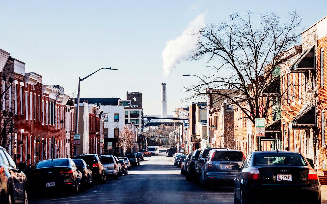 A West Baltimore community located near the Wheelabrator Baltimore trash incinerator