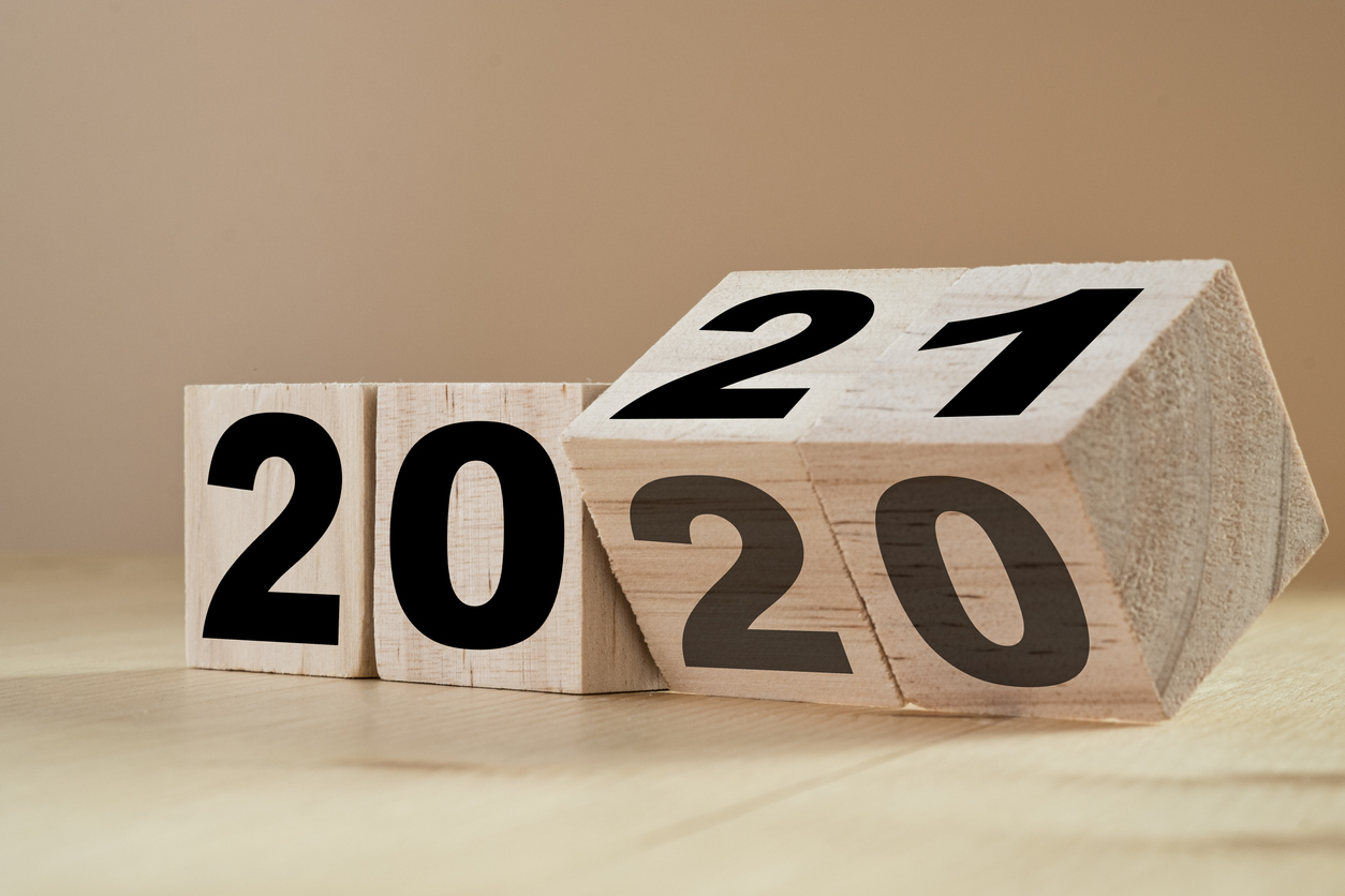 "Blocks displaying ""2020"" and ""2021"""